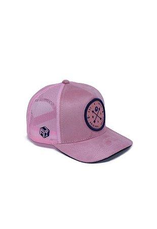 Boné Trucker Brasão Pink Ocean A Ideia