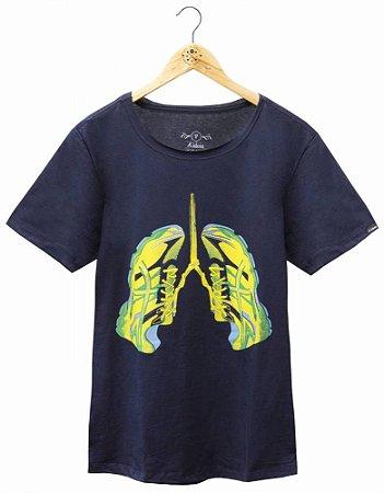 Camiseta Pulmões Marinho