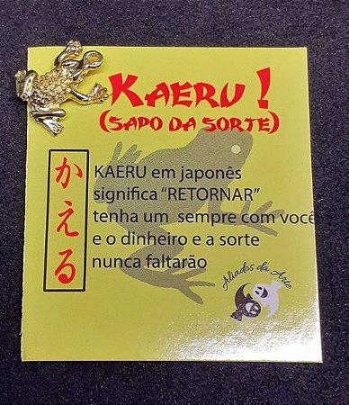 KAERU SAPO/TARTARUGA DA SORTE DOURADO