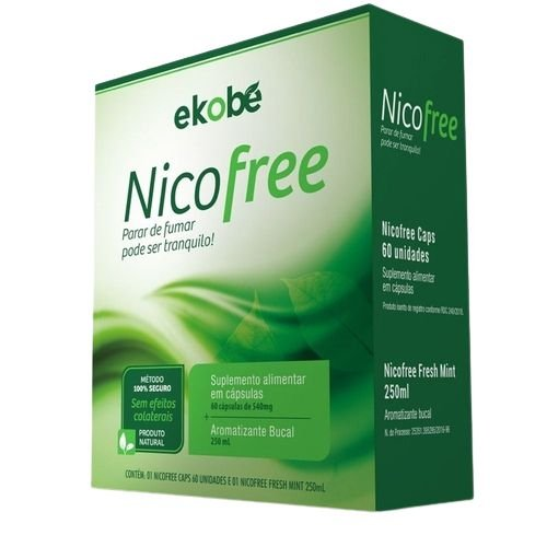 NicoFree Kit - 60ml / 60 cáp - Ekobe