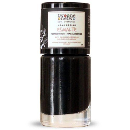 Esmalte Hipoalergênico Vegano Fortalecedor Twoone Onetwo 10ml Black Onyx