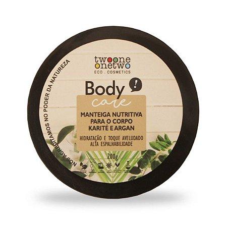 Manteiga Nutritiva Natural Vegano para o Corpo Karité e Argan Twoone Onetwo 200g
