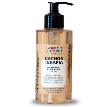Shampoo Cacho Terapia Natural Vegano Chia e Linhaça Twoone Onetwo 250ml