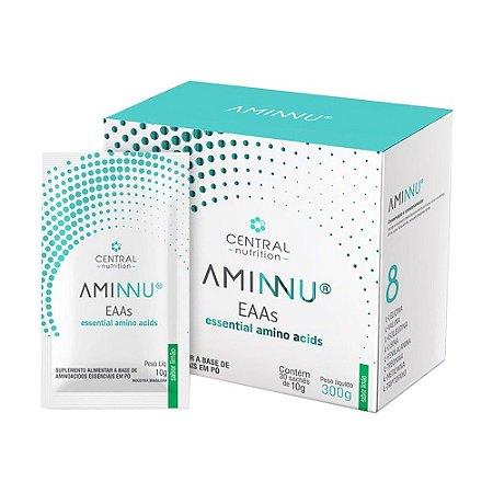Aminnu limão 10g Com 30 Sachês - Suplemento Alimentar A Base De Aminoácidos Essenciais