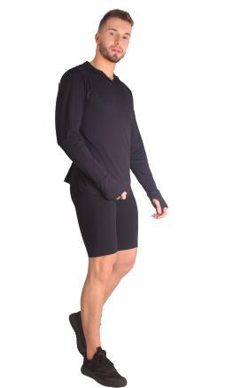 Blusa masculina antiviral com efeito permanente com tecnologia AMNI®