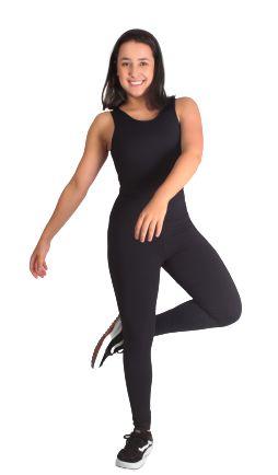 Legging feminina de alta compressão com Tecnologia Emana® Cor Preta