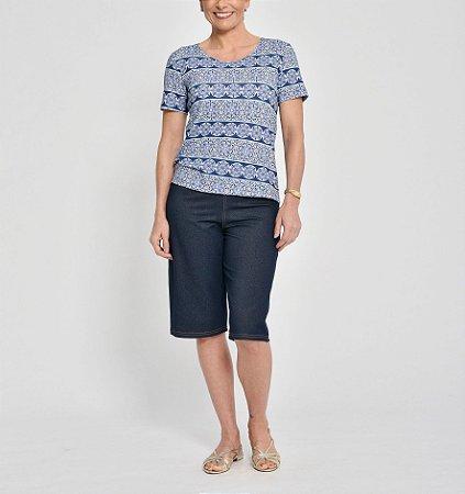 Bermuda longa Malha Jeans