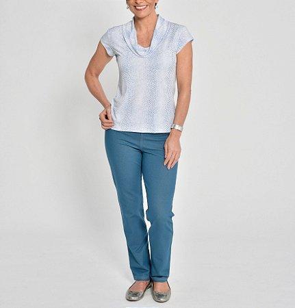 Calça Malha Jeans com bolso traseiro
