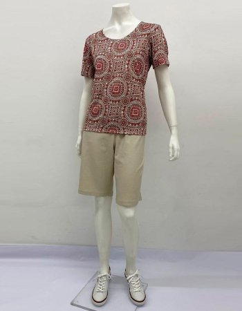 Blusa básica jérsey estampa Vitral