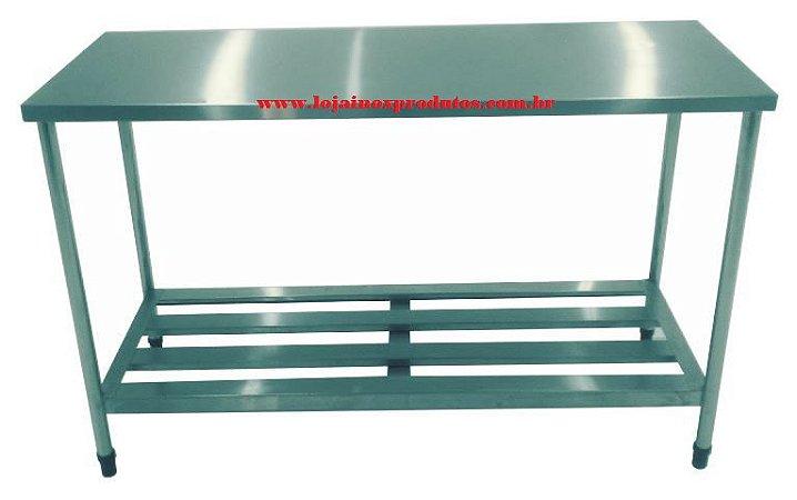 Mesa Industrial 17 - Inox 430 - 1,20 x 0,60 x 0,85 MT De Altura