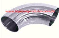 """Curva Inox 304 - 1 1/2"""" (38,10 MM) PE OD RL 90° CC Solda"""