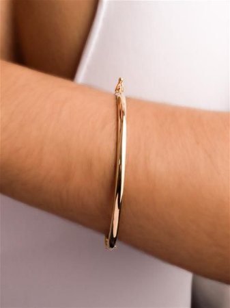Pulseira bracelete liso