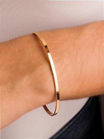 Pulseira bracelete fio quadrado fino