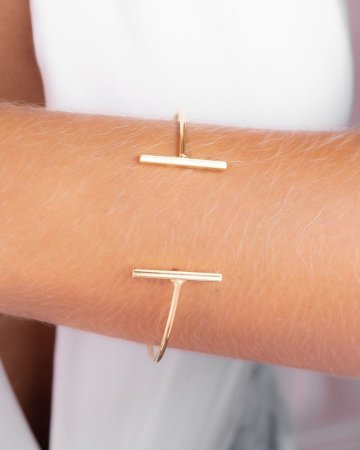 Pulseira bracelete aberta