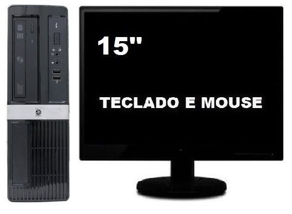 Computador Hp Compaq Core 2 Duo 4gb Hd 500gb Sff