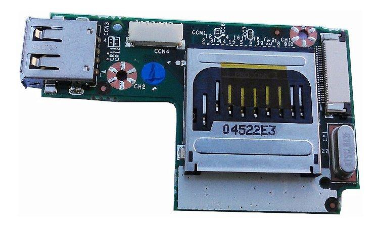 Placa Usb + Leitor Cartão Notebook Cce E35b +  35gmi3500-10
