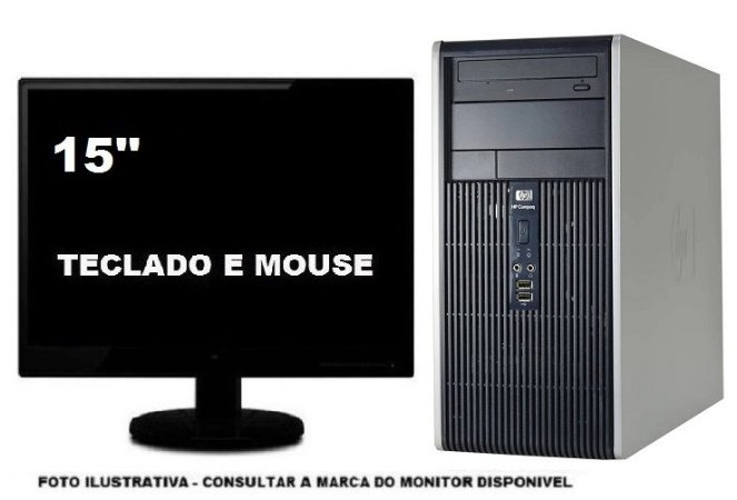 Computador Hp Dc5750 Dualcore 4gb 320gb Mon 15''