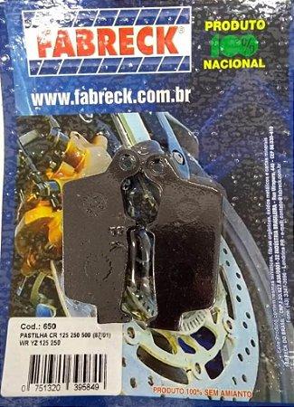 Pastilha Freio Falcon/Xre300 Traseira Fabreck