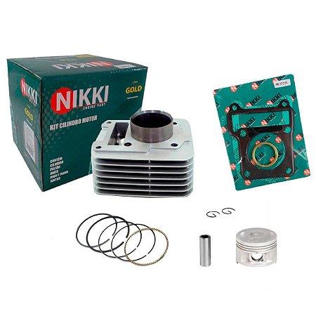 Kit Cilindro Pistão e Anéis Ybr125/Xtz125 Nikki