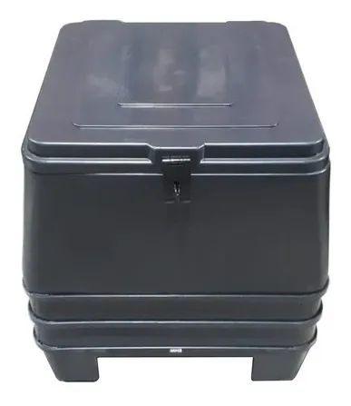 Baú Carga Plástico Mn3 126 Litros Preto Entrega