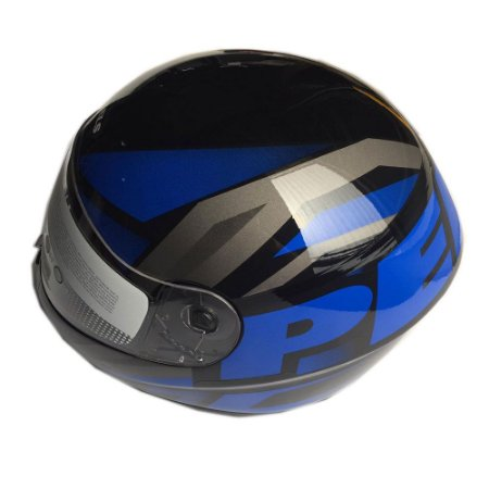 Capacete Peels Spike Maxi Preto/Azul