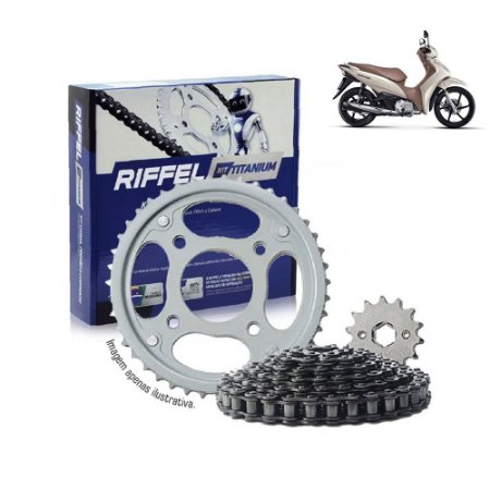 Kit Transmissão Riffel Titanium Biz125