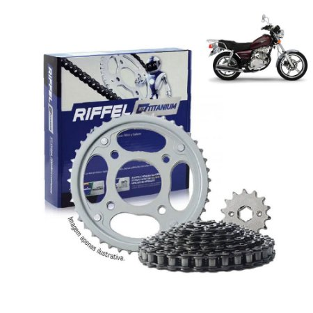 Kit Transmissão Riffel Titanium Yes125  Intruder 125