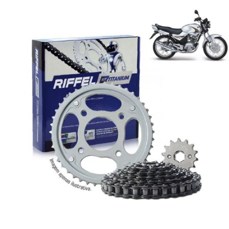 Kit Transmissão Riffel Titanium Ybr125/Factor125