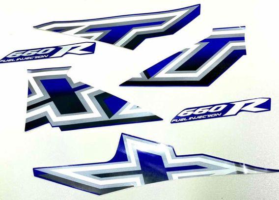 Kit Faixas Adesivos Xt660 2005/06 Azul