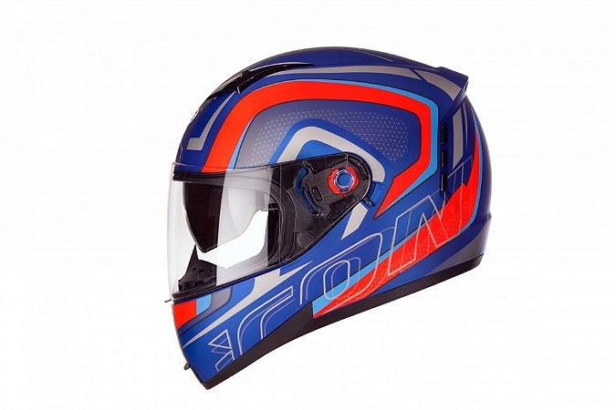 Capacete Peels Icon Silverstone Azul Fosco/Vermelho