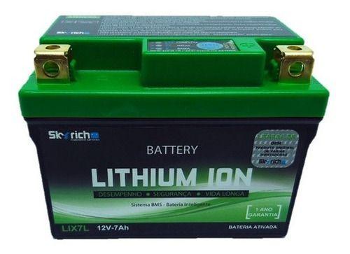 Bateria Lítio Lix7 Twister/Falcon/Fazer 250 7ah Skyrich