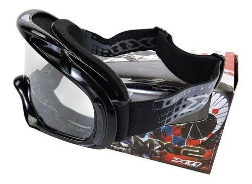 Oculos Cross Trilha Enduro Quadriclo X11 Mx 2 Preto