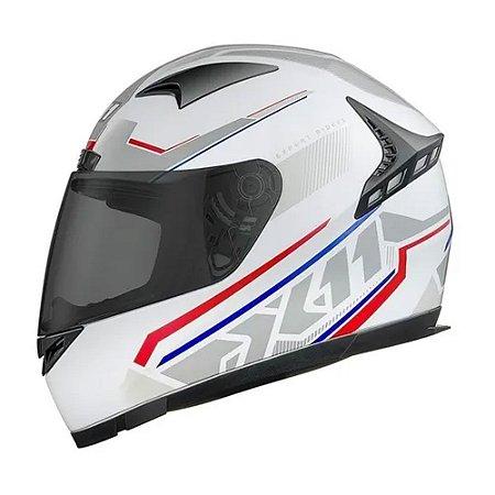 Capacete X11 Volt Dash Branco