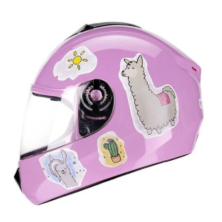 Capacete Fly Fun Lhama Rosa