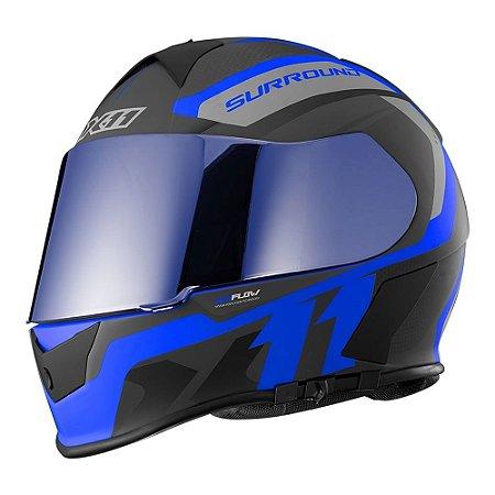 Capacete X11 Revo Pro Surround Azul