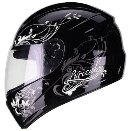Capacete Fly F9 Lyrical Preto/Branco