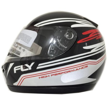 Capacete Fly Drive Hight Performace Preto/Branco