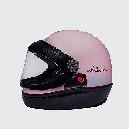 Capacete Taurus San Marino Colors Rosa Claro