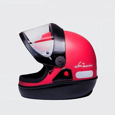 Capacete Taurus San Marino Colors Vermelho