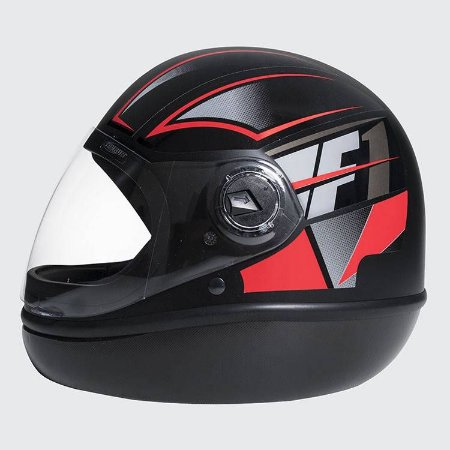 Capacete Taurus Formula 1 Neo Preto Fosco/Vermelho