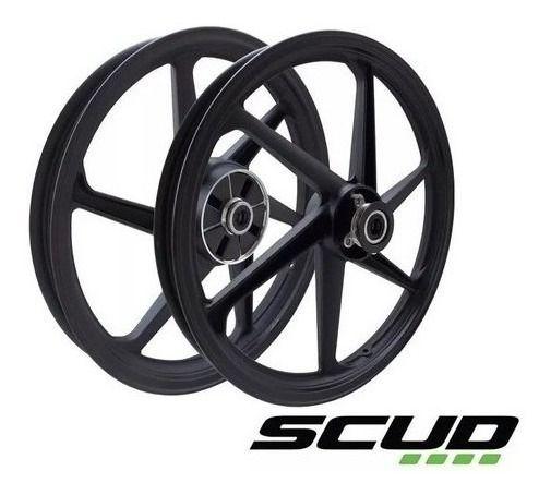 Roda Scud Ybr Factor125 ED (Disco) 6P Preta Scud