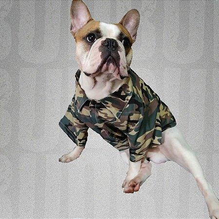 Camisa para Pet Militar - BudBul
