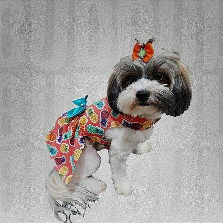 Vestidinho para Pet Abacaxi Roupinhas para Pet - BudBul
