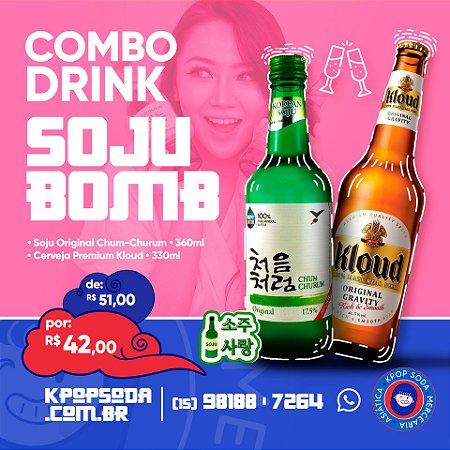 Combo SOJU BOMB - Soju Lotte Original + Cerveja Kloud