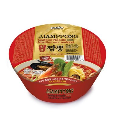 Macarrão Coreano JJANPONG  (Frutos do Mar PICANTE) - BOWL 116g