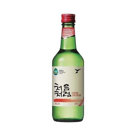 Soju Lotte Chum Churum  19.9% - (Vermelho) 360ml