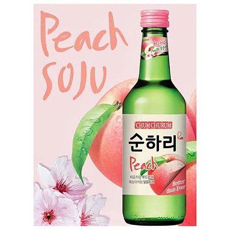Soju Lotte sabor PÊSSEGO com Copo para Shot - 360ml