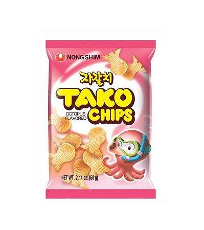 Salgadinho Coreano Tako Chips - Sabor Polvo e Frutos do Mar 60g