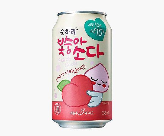 Soda Peach Corena Alcoólica 3% - 355ml ( Sabor Pessêgo )