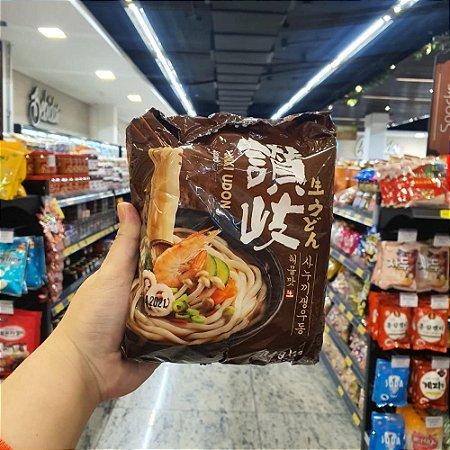 Macarrão Coreano Udon sabor Frutos do Mar - 228g x 3un  (pré cozido)